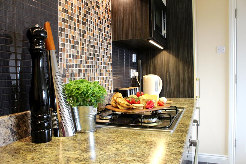 One of our self catering kitchens ideal for corporate stays