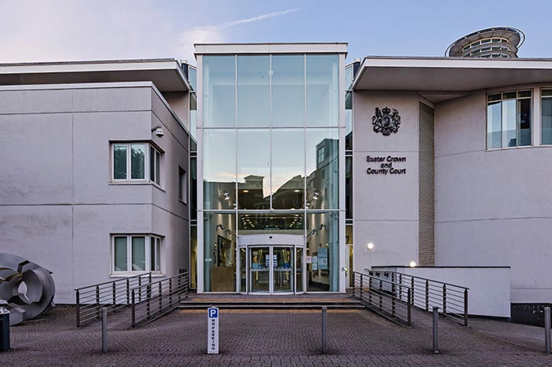 Exeter Crown Court, near the city centre