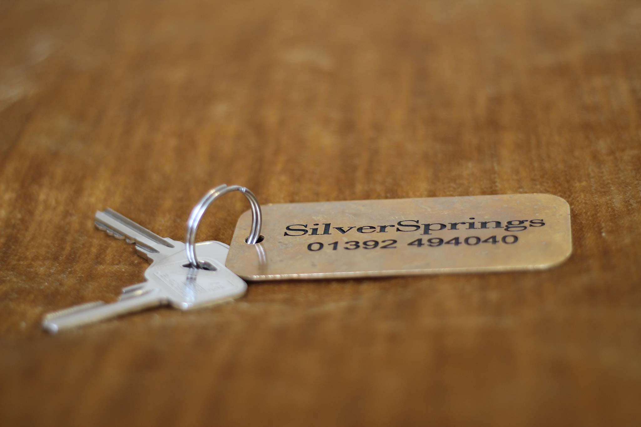 The keys to a SilverSprings serviced apartment in Exeter